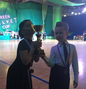 Стрекалов Марк и Смирнова Нелли на GREEN VELVET CUP в Москве заняли 3 место!